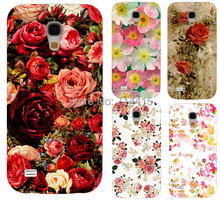 2015 Freeshipping Colorful Brilliant Rose Peony Flowers Background phone case cover skin Shell for Samsung galaxy S4 mini I9190(China (Mainland))