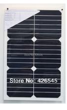 18 Вт высокая эффективность sunpower полугибкий солнечные панели для 12 В зарядное устройство