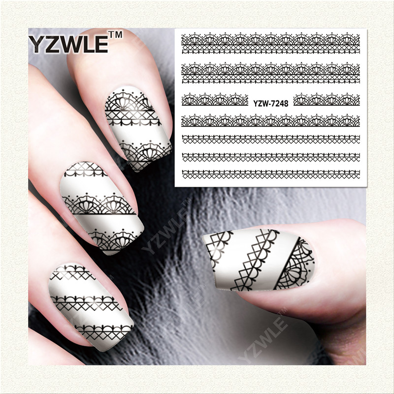 YZWLE 1 Sheet DIY Decals Nails Art Water Transfer Printing Stickers Accessories For Manicure Salon YZW-7248(China (Mainland))