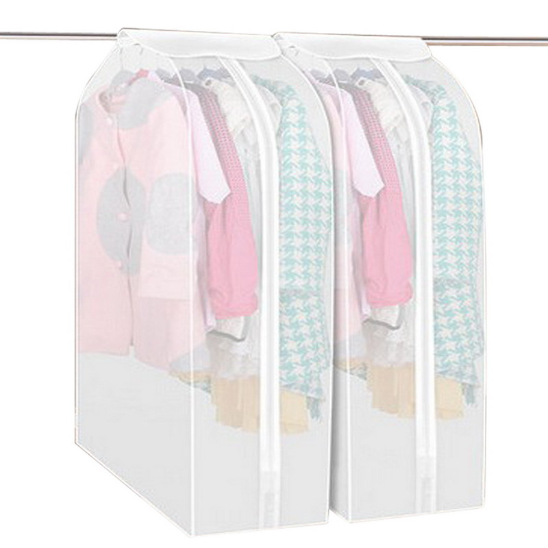 M/L Size Big Capacity Fad Clothes Hanging Garment Suit Coat Dust Cover Protector Wardrobe Storage Bag Good Quality(China (Mainland))