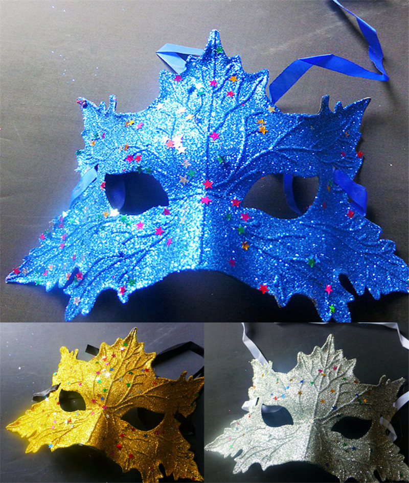 Beautiful Halloween Girls Maks new masquerade party carnival maple leaf shape mask for young lady and children W50(China (Mainland))