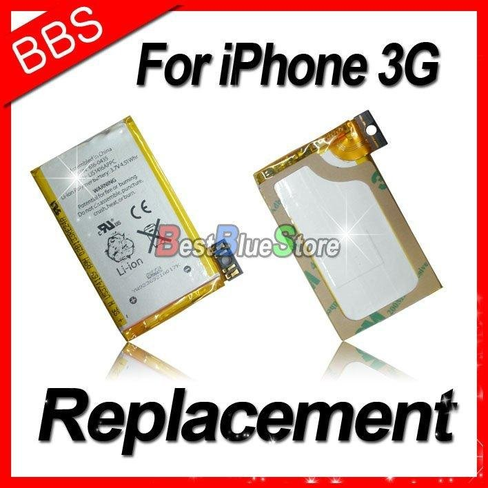 for iPhone 3G battery Li-Ion Battery replacement battery for iphone 3g(China (Mainland))