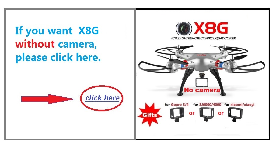 Syma X8G 2.4G 4ch 6 Axis Venture with 5MP Wide Angle HD Camera RC Drone Quadcopter RTF Helicopter With 2PCS 2400mAh Battery Gift