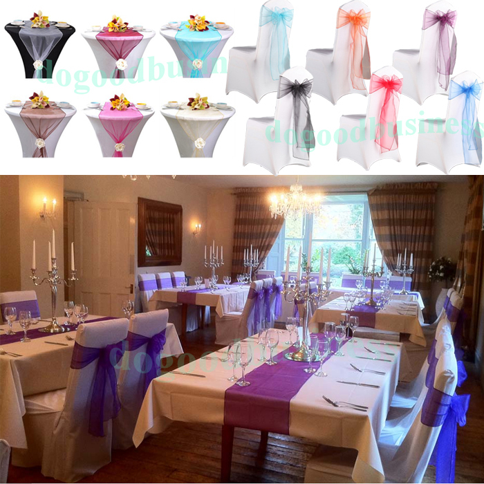Party Wedding  Sash/Table table 275CM runner banquet Runner Chair Banquet Decoration size ORGANZA