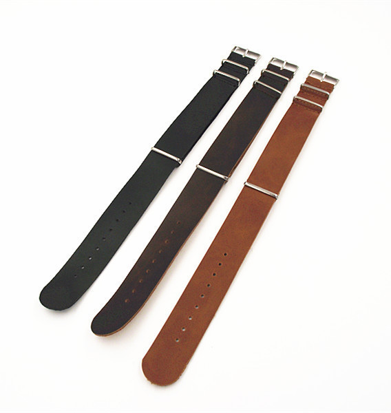 Wholesale 10PCS/lot High quality 16MM 18MM 20MM 22MM 24MM PU leather nato straps Imitation leather Watch band watch strap 3color<br><br>Aliexpress