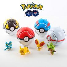 Throw Automatically Bounce Pokeball With Pokemon Figures Pikaballs Pokebolas Anime Action Figures Creative Children's Toys