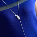 Hollow Out Star Long Necklace Women Bijoux Simple Sweater Necklaces Pendants New Fashion Jewelry Cute Gift