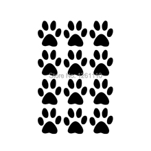 Set of 12 Dog Paw Prints Decals Vinyl Sticker For Truck SUV Car Window Bumper Laptop Locker Home Wall Glass