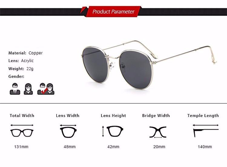 Luxury Brand Design Round Sunglasses Women Men Brand Designer Vintage Retro Mirror Sun Glasses For Women Female Ladies Sunglass (5)