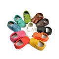 Tassels 13 Color PU Leather Girls Boys Baby Shoes Moccasin Newborn Shoes Soft Infants Crib Shoes