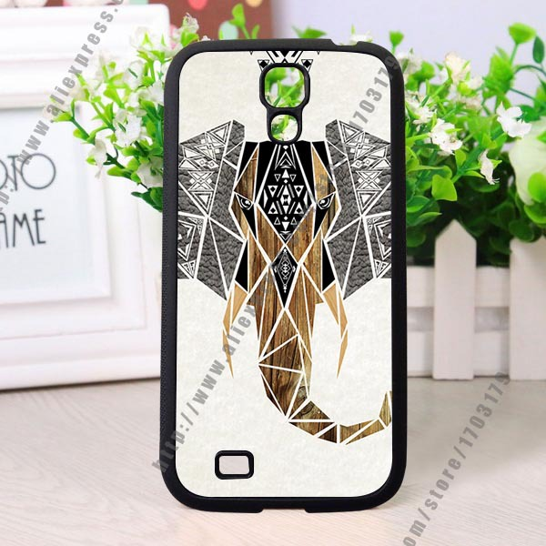 Geometric design new listing Elephant Style Hard Skin Case Cover for Samsung Galaxy S4 cases(China (Mainland))