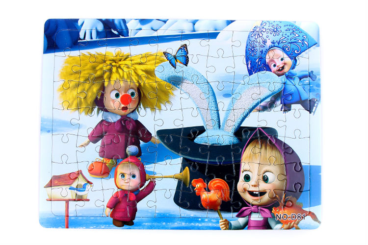 3D Paper jigsaw puzzles toys for children kids toys brinquedos Masha and Bear Princess educational Baby toys Puzles Puzzel D81-H(China (Mainland))