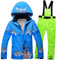 2016 NEW Down Thermal Ski Snowboarding Jacket Pants Women Waterproof Breathable Outdoor Sports Winter Jacket Suits
