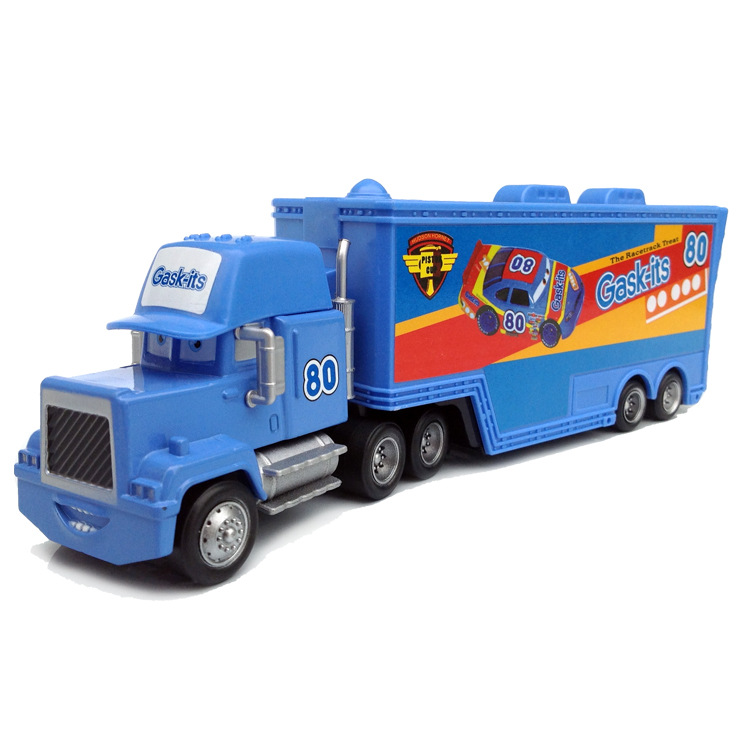 D0058 Funny Pixar Cars diecast figure toy Alloy Car Model for kids children Toy-Container truck blue NO.80(China (Mainland))