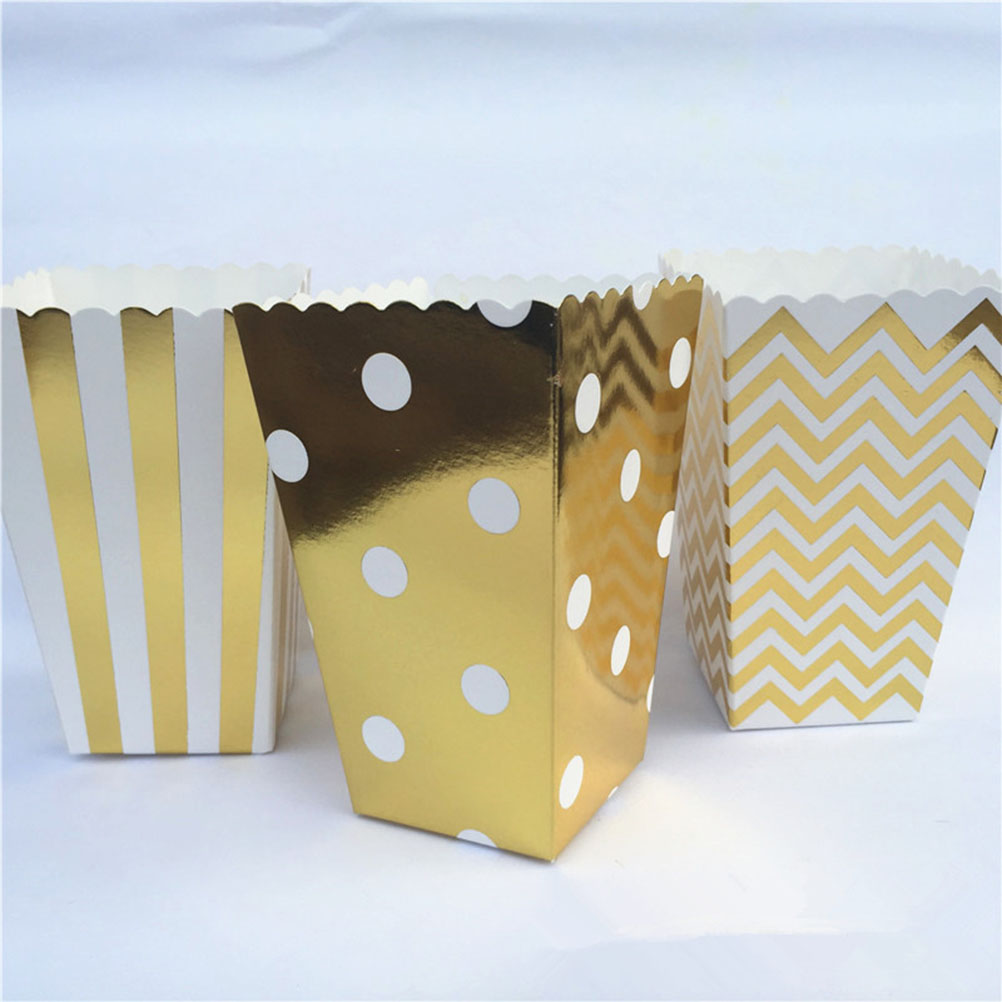 50pcs Mini Party Paper Popcorn Boxes Candy/Sanck Favor Bags Wedding Birthday Movie Party Supplies(China (Mainland))