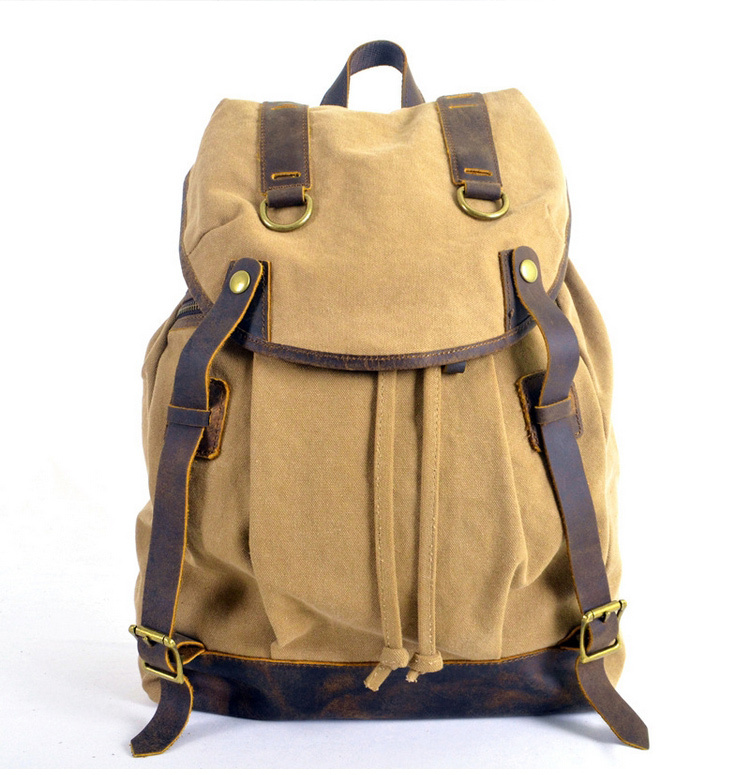Genuine leather canvas bags