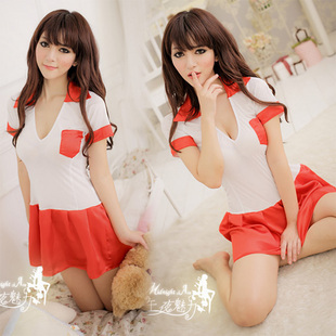 Free shipping Sexy underwear the temptation to set student clothing tennis jersey h105(China (Mainland))