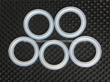 "5PCS 1.5"" Sanitary Tri Clamp Silicon Gasket Fits 50.5mm Type Ferrule Flange Free Shipping SMB 90016250(China (Mainland))"