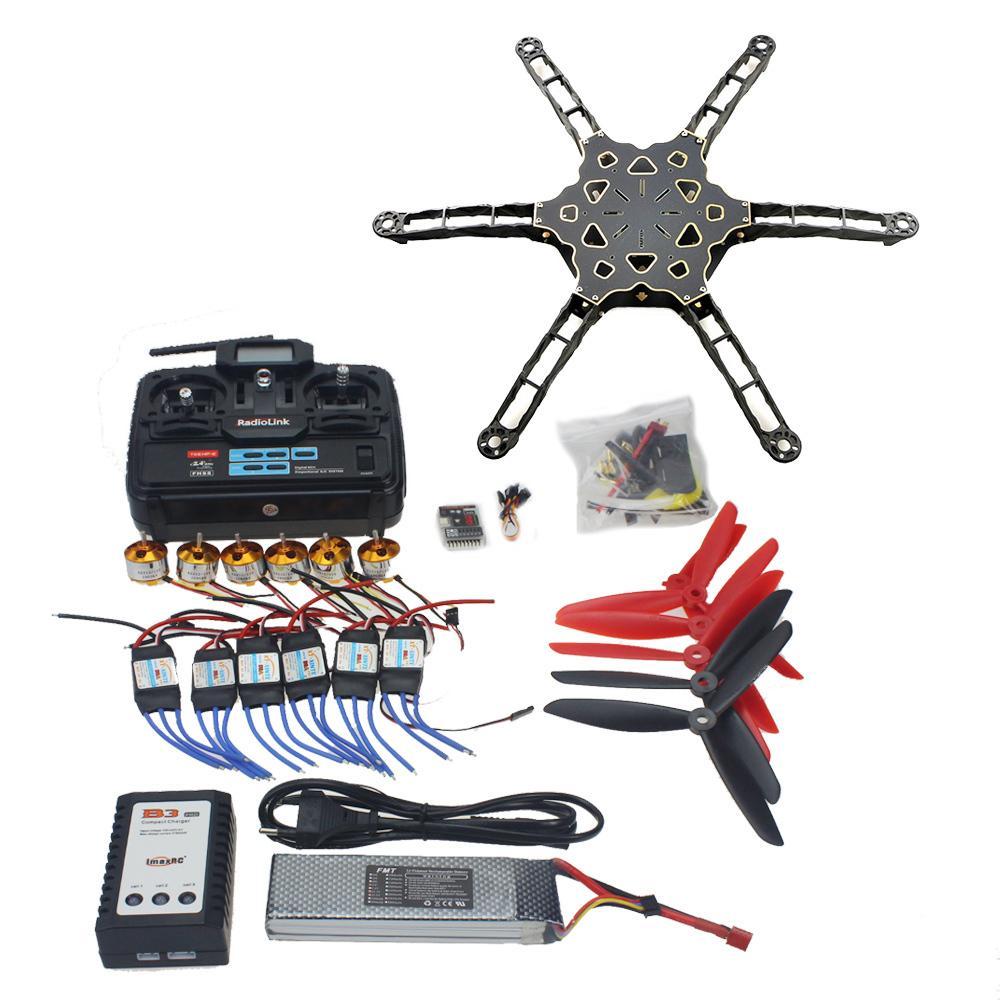 QQ SUPER Multi-rotor Flight Control DIY FPV Drone Alien Across Carbon Fiber RC Helicopter TX&RX Motor ESC F11798-C(China (Mainland))