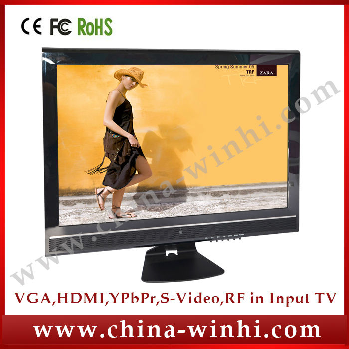 19inch in store Cheap LED backlight TV 12V power saving advertising media monitor Real Supplier Speedy Delivery(China (Mainland))
