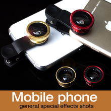 Universal 3in1 Clip-on Fish Eye Wide Angle Macro Mobile Phone Camera Lens Kit For IPhone 6 5s 5c for Samsung S6 S5 meizu mx4 pro