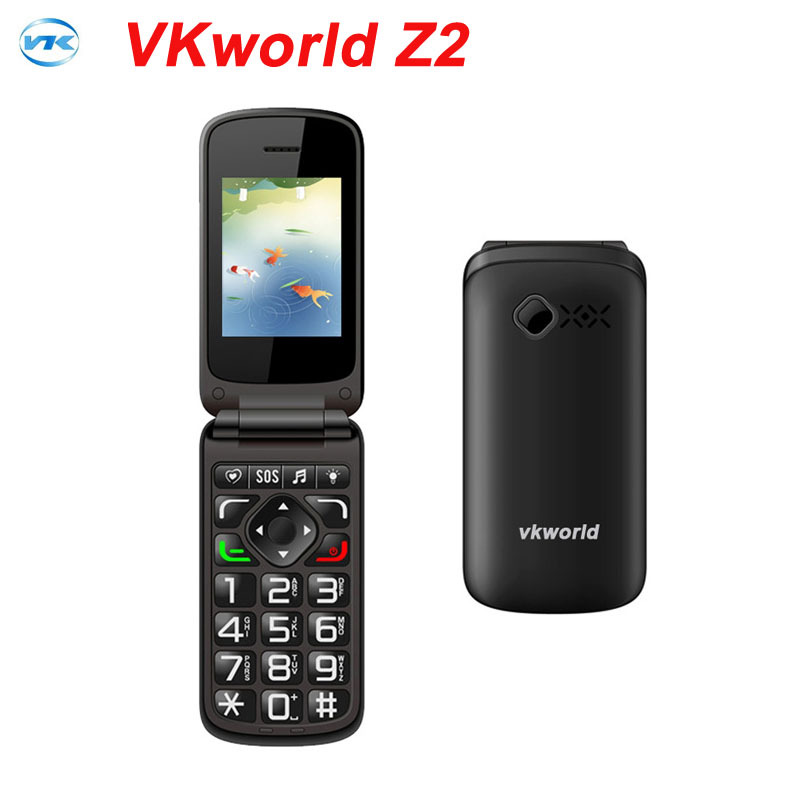 Original VKworld Z2 2.4'' TFT Color Display Screen Elders Mobile Phone Support Dual SIM Card /0.3MP Camera/FM/ Bluetooth / Torch(China (Mainland))