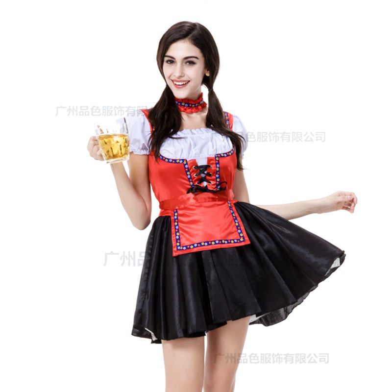 Oktoberfest Maid cosplay costume maid dress plus size cosplay costume halloween costume victorian dress disfraces halloween(China (Mainland))