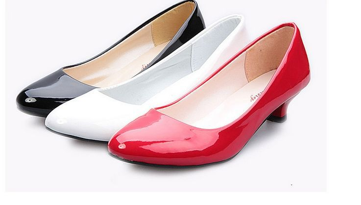 Low Heeled Wedding Shoes Small Heel Pointed Toes Thin Heels Party Wedding Shoes For Brides
