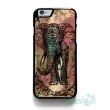 Fit for iPhone 4 4s 5 5s 5c se 6 6s 7 plus ipod touch 4/5/6 back skins cellphone case cover ELEPHANT TRIBAL