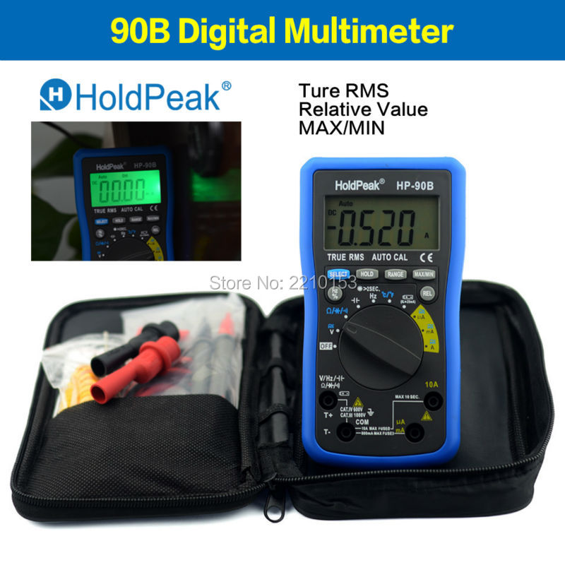 HoldPeak 90 Series True RMS Digital Multimeter Auto Range Max/Min and Battery Tester with Temperature Unit Select 90B(China (Mainland))