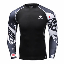 Buy Mens Compression Shirts Bodybuilding Skin Tight Long Sleeves Jerseys Clothings MMA Crossfit Exercise Workout Fitness Sportswear for $7.76 in AliExpress store