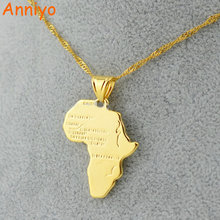 Buy Anniyo 9 Style Africa Map Pendant Necklace Women/Men Gold Color Ethiopian Jewelry Wholesale African Maps Hiphop Item for $3.60 in AliExpress store