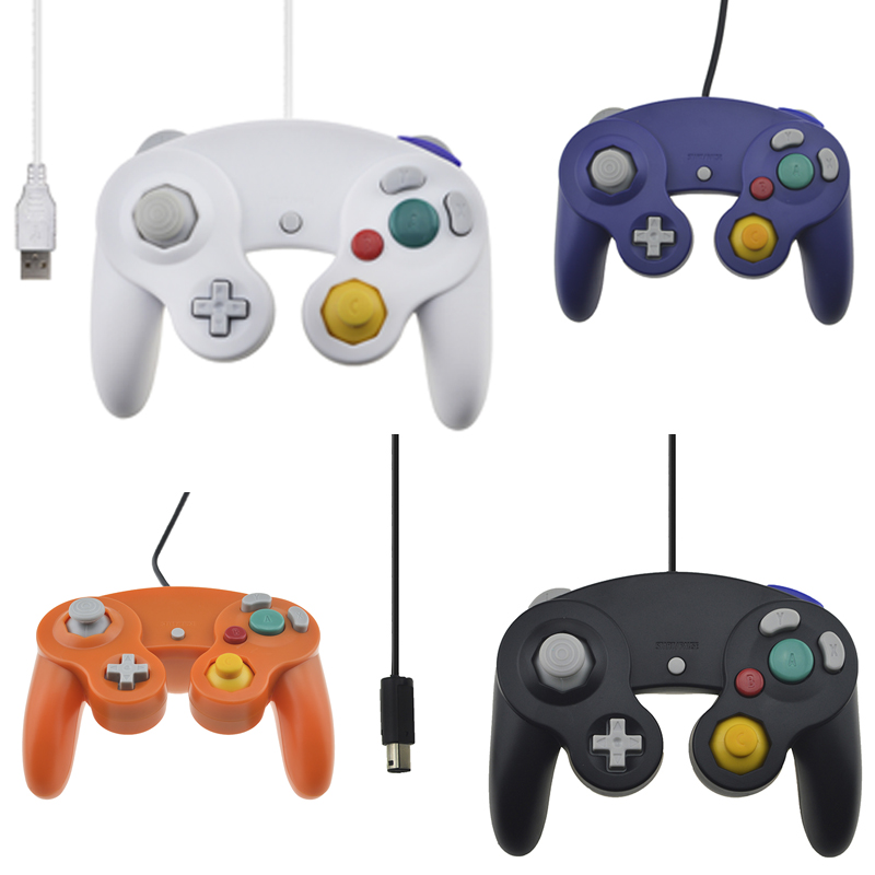 Wired Joystick for Nintendo Gamecube Console Handheld For NGC Controller GC Port For Wii For MAC Computer(China (Mainland))