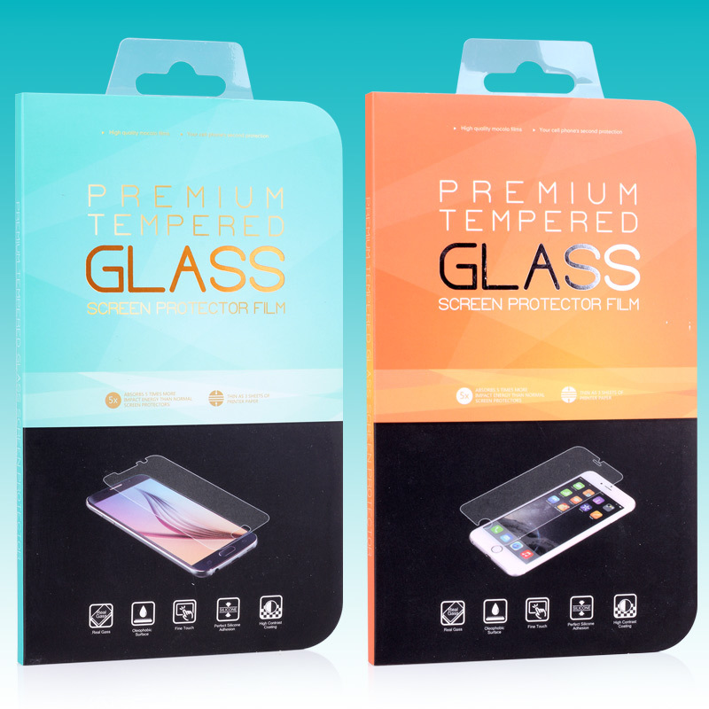 new retail packaging box/paper box/box packing for iphone 6 iphone5s 5c Tempered Glass Screen Protector Film,freeshipping KJ-399(China (Mainland))