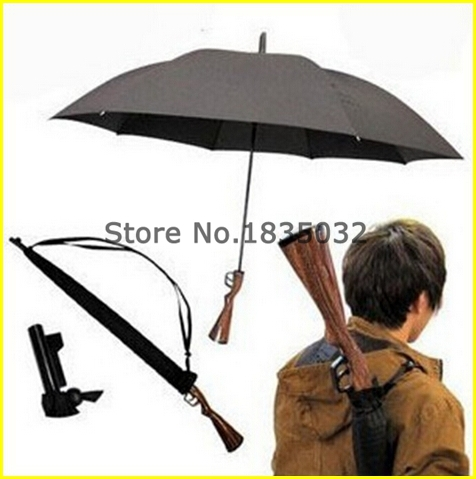 Free Shipping 100pcs/lot New Novelty Rifle Umbrella Gun Umbrella 100cm Big size(China (Mainland))