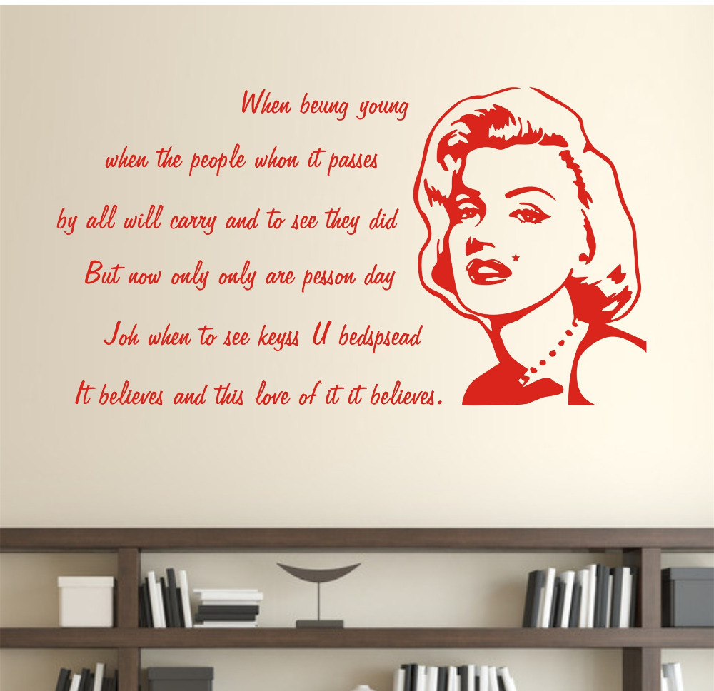 Red Lipstick Quotes Red Wall Decal Quotes  Color The Walls Of Your House