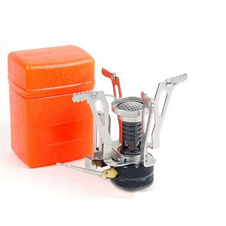 2016 Portable Outdoor Picnic Gas Stove Mini Stainless Steel Foldable Camping Automatically Strike Fire Cooking Range 3000W(China (Mainland))