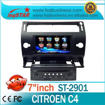 Autoradio for Citroen C4 car dvd player with DVD/CD/Mp3/Mp4/Bluetooth/Radio/IPOD/TV/GPS! hot selling!