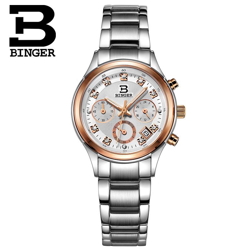 BINGER Switzerland watches men luxury brand quartz watch female form leisure fashion ultra thin simple wind relogio feminino<br><br>Aliexpress