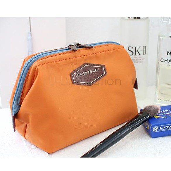 2014 New Cute Women's Lady Travel Makeup bag Cosmetic pouch Clutch Handbag Casual Purse 4 Colors 10(China (Mainland))