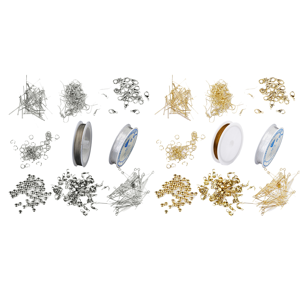 Jewellery Making Starter Kit Findings Ring Spacer Steel Wire Elastic Cord Thread