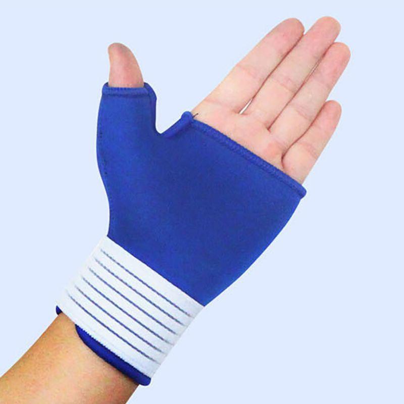 Adult Fitness Training Safety Hand Bands Weight Lifting Sports Wristband Gym Wrist Thumb Support Straps Wraps Bandage(China (Mainland))