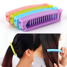 Folding comb portable travel small comb carry straight hair kinkiness dual make-up comb(China (Mainland))