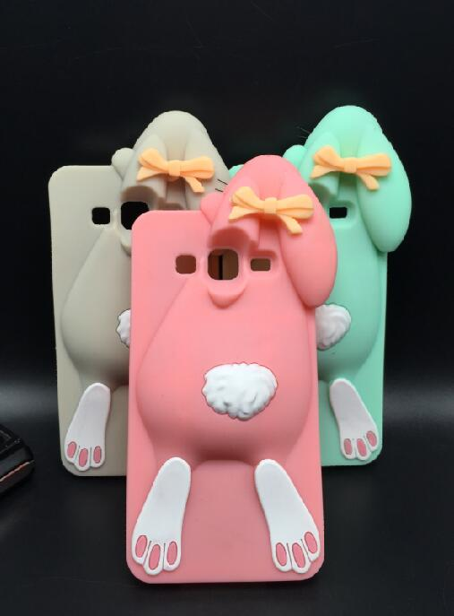 3D Cute Cartoon Rabbit Bunny Soft Silicon Back Skin Cover Samsung Galaxy J7 J700  -  ALEX ZHOU Store store