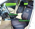 Logo+ Car Seat Covers For All TOYOTA only 2 Front Seat Cover Car Covers+ Multi-Color Silk Breathable Material+Free Shipping