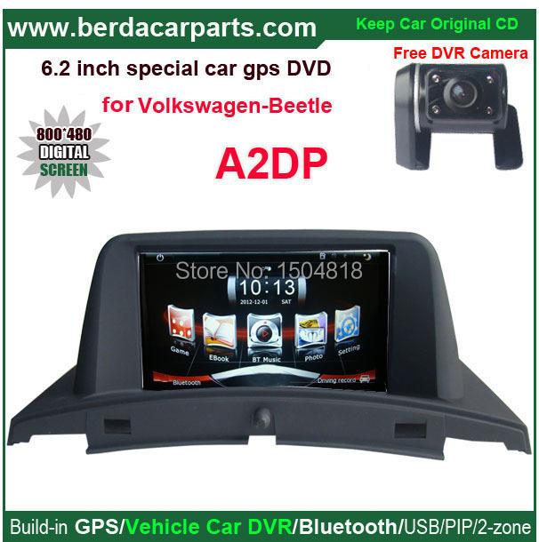 Car audio system GPS for Volkswagen VW Beetle with 6.2 inches touch screen+keep original CD function+free rear view camera(China (Mainland))