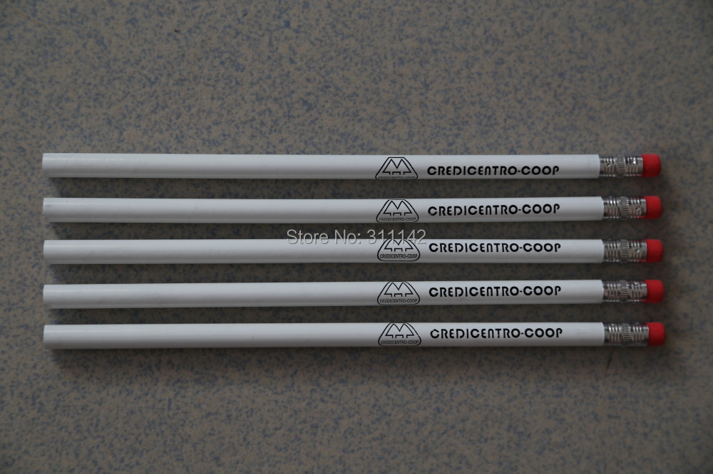 free shipping school pencil with eraser printed clients logo 2000pcs<br>