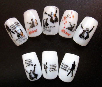HD 2 pieces  Michael Jackson Popular Water transfer printing HOT wholesale   nail art stamp decal