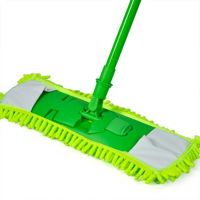 Personal style New Extendable Microfibre Mop Cleaner Sweeper Wet Dry - Green(China (Mainland))
