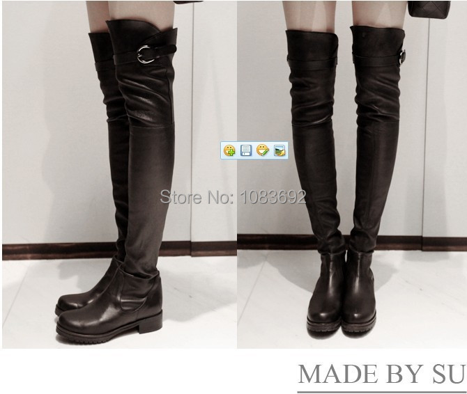 2014 New,woman over knee flat boots women snow winter warm fur shoes lady fashion solid boots EUR size 34-41, Free shipping<br><br>Aliexpress